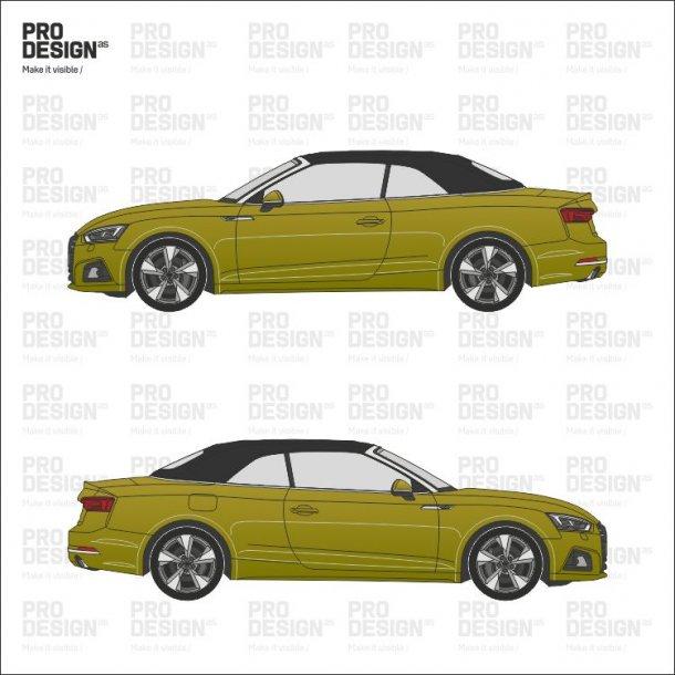 Audi A5 cabriolet indpakning i en farve