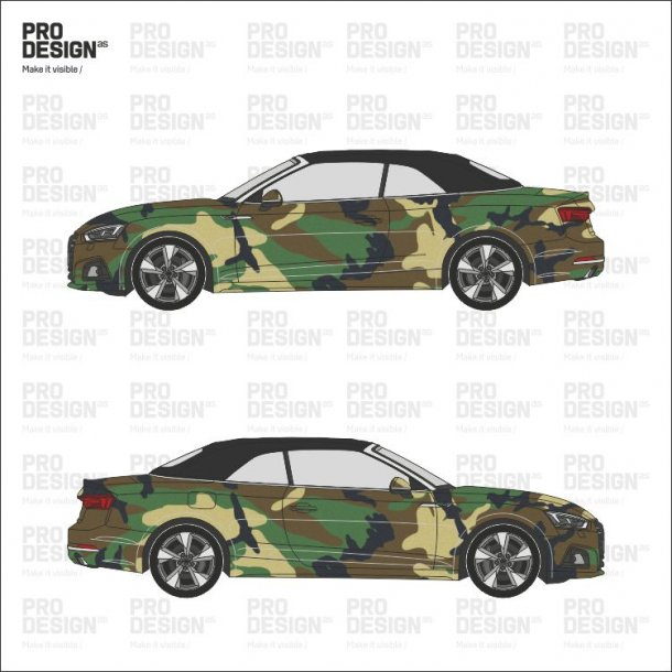 Audi A5 cabriolet indpakning i print