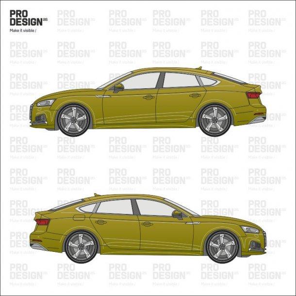 Audi A5 indpakning i en farve