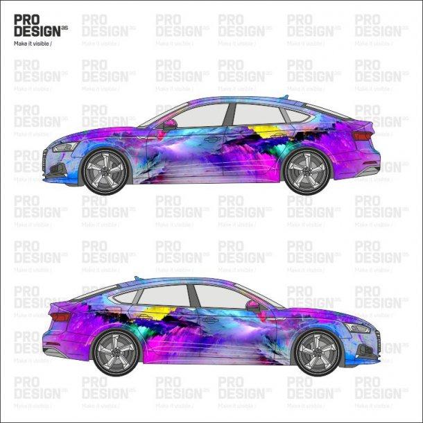 Audi A5 indpakning i print