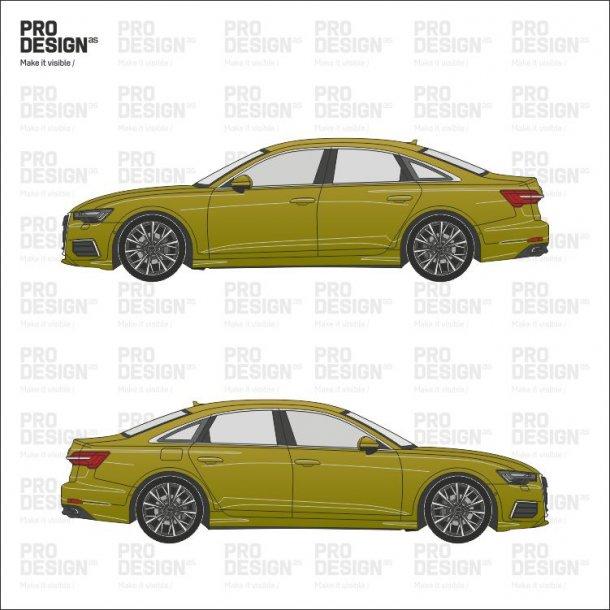 Audi A6 indpakning i en farve