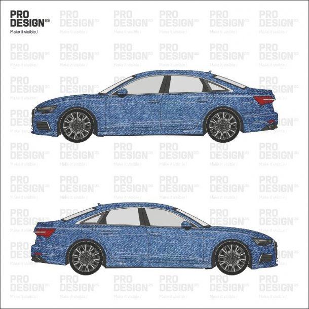 Audi A6 indpakning i print