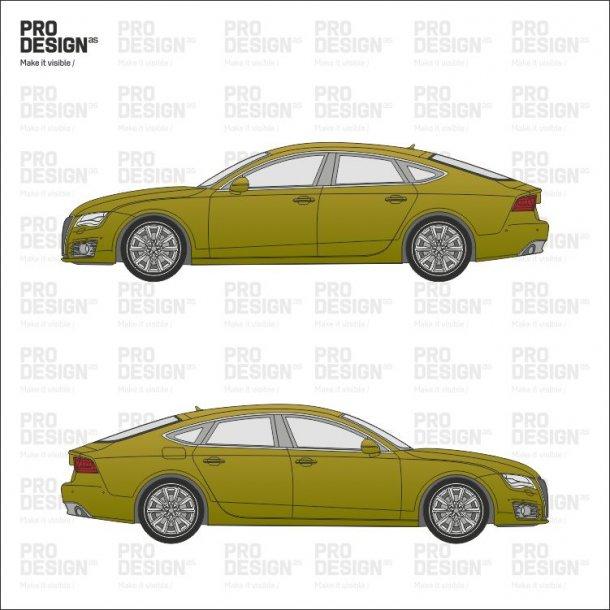 Audi A7 indpakning i en farve