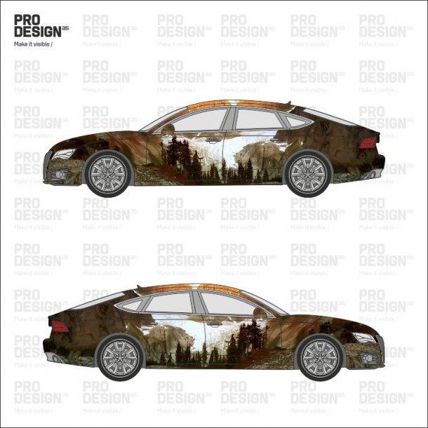 Audi A7 indpakning i print