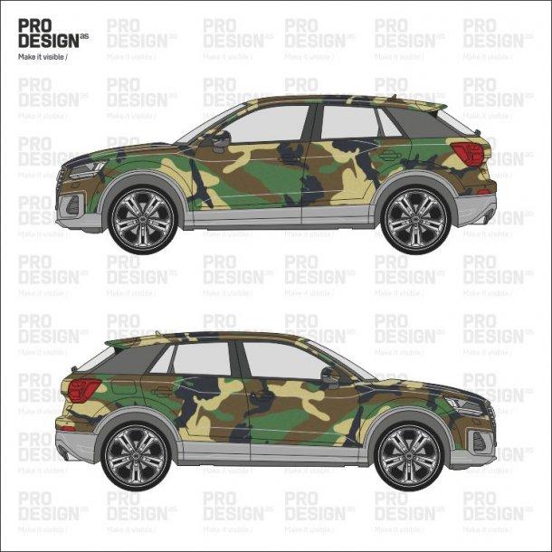 Audi Q2 indpakning i print