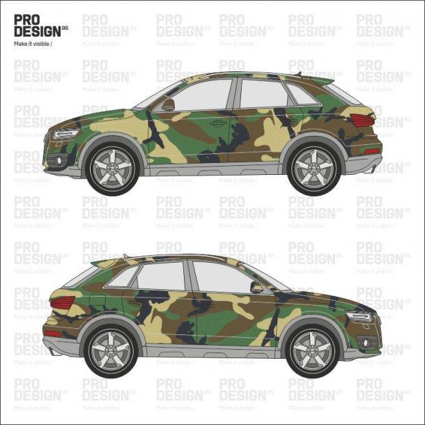 Audi Q3 indpakning i print
