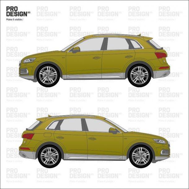 Audi Q5 indpakning i en farve