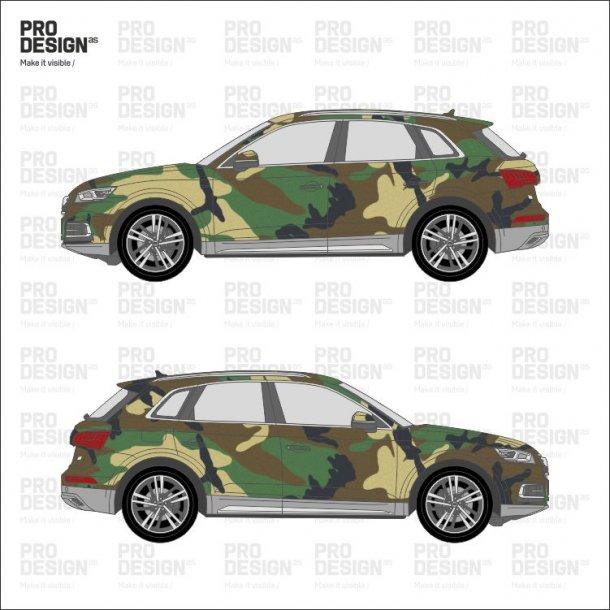 Audi Q5 indpakning i print
