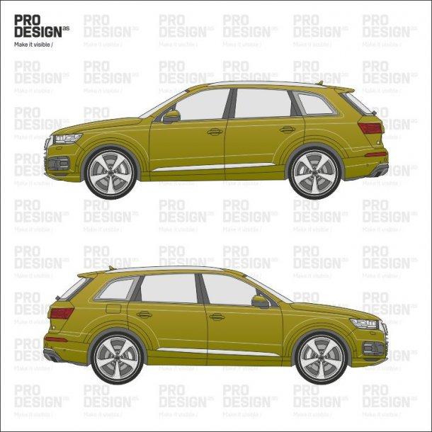 Audi Q7 indpakning i en farve