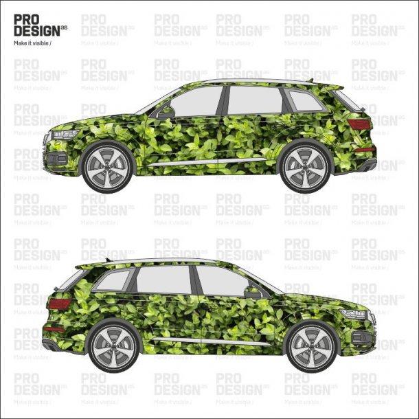 Audi Q7 indpakning i print