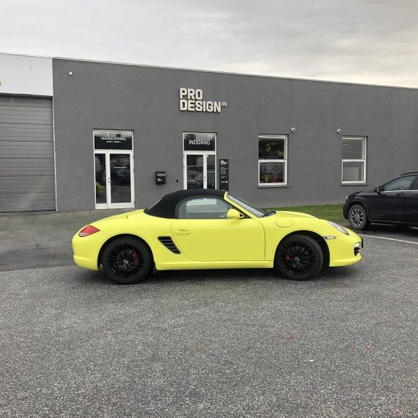 Porsche Boxster indpakning i en farve
