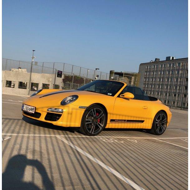 Porsche 911 indpakning i en farve