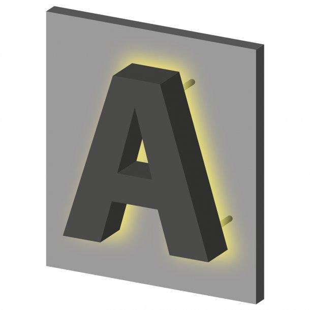 LED bogstaver med bagudvendt lys (Coronalys)